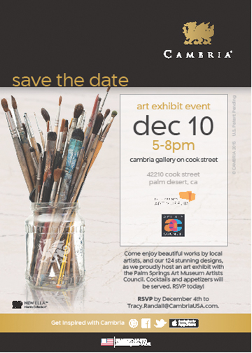 Cambria Show announcement